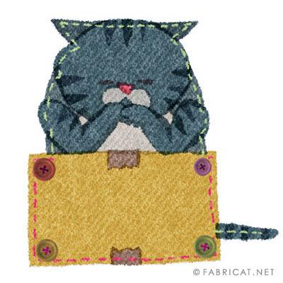 渋いサバトラ猫のイラスト