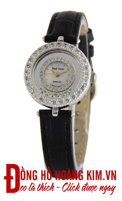 Đồng hồ nữ dây da Royal Crown