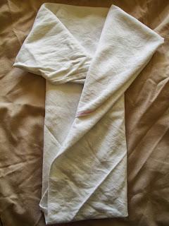 Folded cotton flat nappy