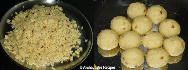 make rava coconut ladoo