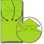 Origami Katak Lompat