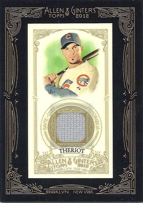 2012 Topps Allen /& Ginter/'s Framed Mini Relics #AGR-RT Ryan Theriot Chicago Cubs