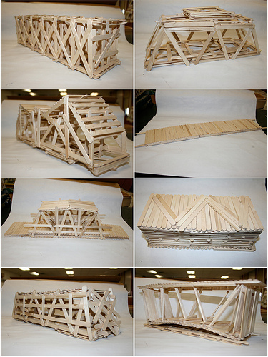 how to make a suspension bridge out of popsicle sticks