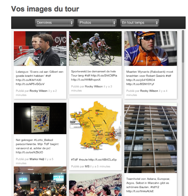 Vos images du tour de France