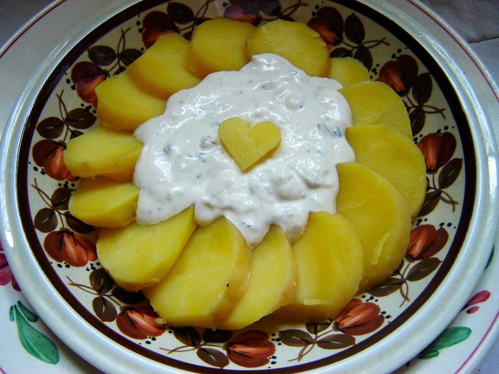 Tradycyjna Salatka Ziemniaczana Tradycyjna Kuchnia sa Atka