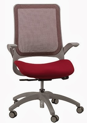 Eurotech Hawk Mesh Back Burgundy Task Chair