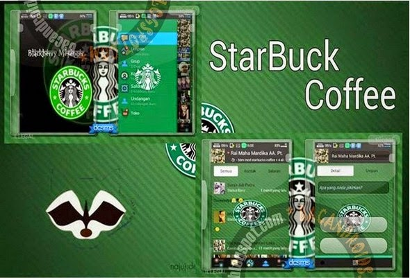 BBM Mod Tema StarBuck Coffee Versi 2.6.0.30