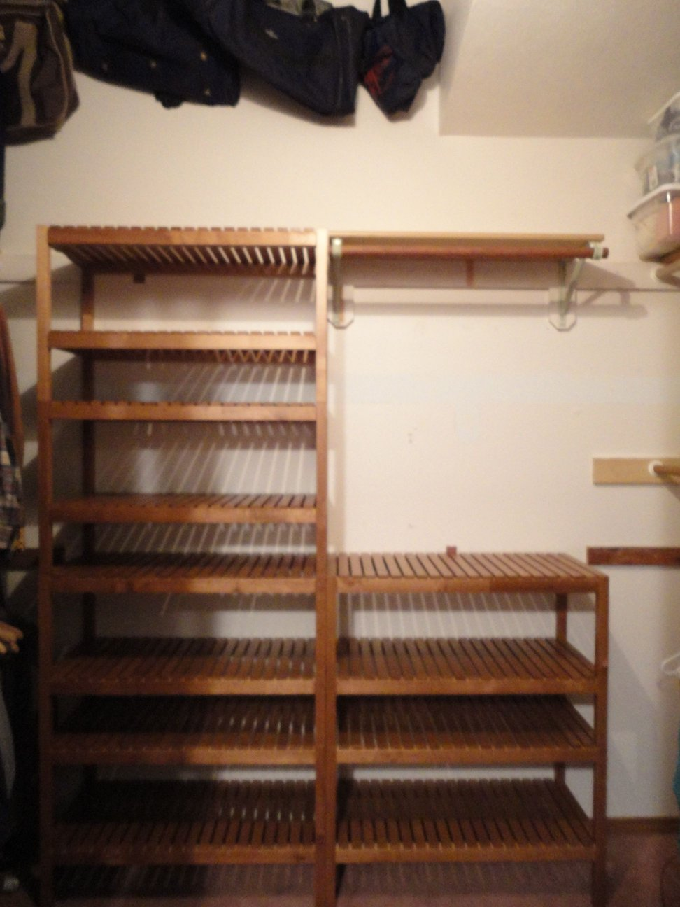 Closet System Using Ikea Molger Bench Get Home Decorating