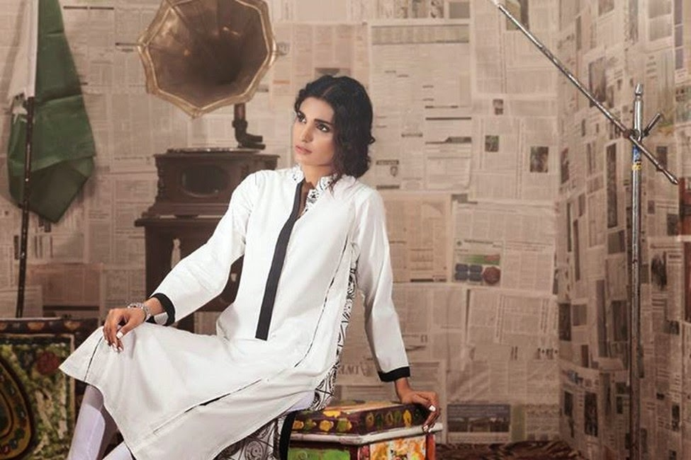 Gul Ahmed Kurti Collection For 14 August 2014