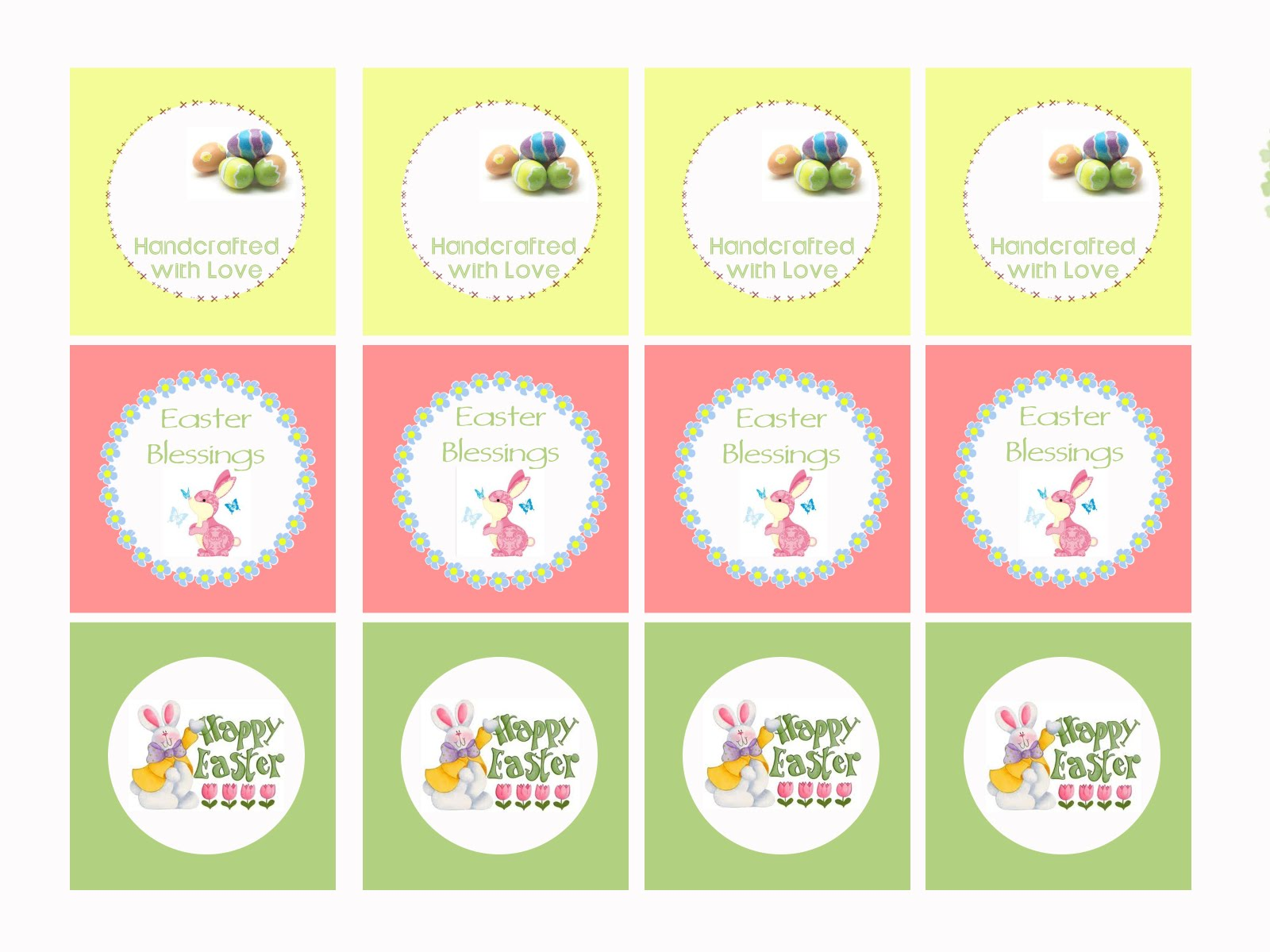 Adorable image inside free printable easter tags