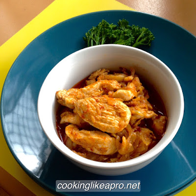 Cooking Chili and Garlic Chicken in Soy Bean Oil