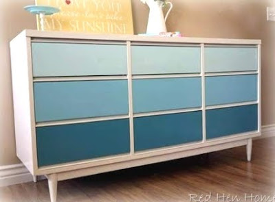 blue dresser makeover