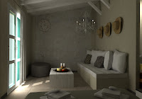3d model interior living room country style vray