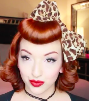 Pinup girl hair tutorial