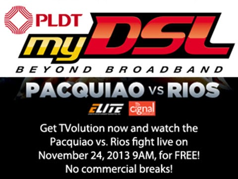 Pacquiao vs Rios Live Streaming Online - PLDT DSL