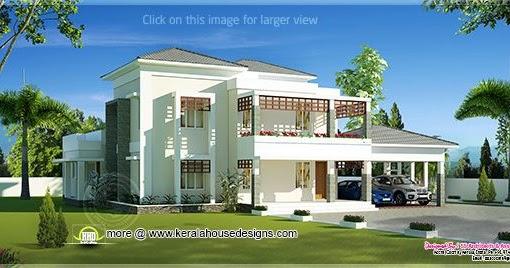 Beautiful Double Storey Modern Villa Exterior Kerala Home Design And