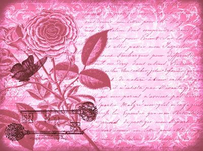 fondo vintage con flores y mariposa en tonos violeta