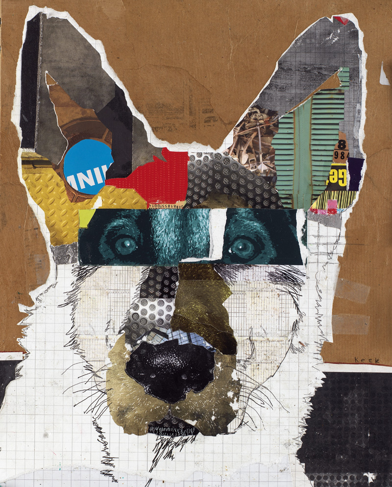 Wa wac design 2 make a collage with the face image for Dog painting artist