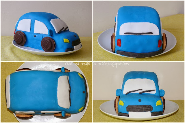tort auto samochód dla dziecka na urodziny