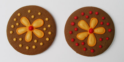 fall colored flower cookies