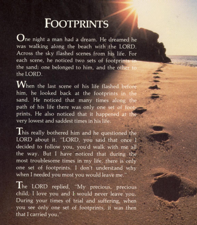Mary stevenson s footprints in the sand