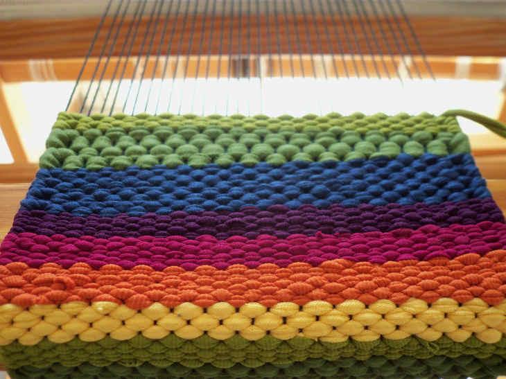 AnnaR: Tessere con la stoffa: le strisce di jersey