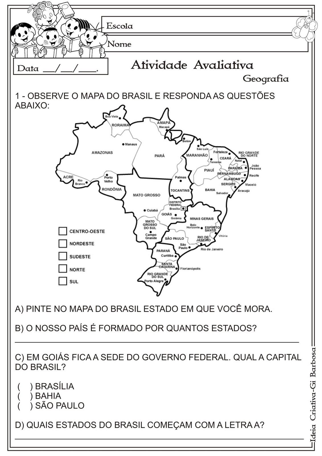 Modelo de Avaliação Geografia