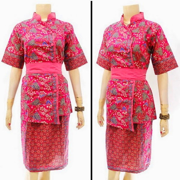 DB3810 Model Baju Dress Batik Modern Terbaru 2014