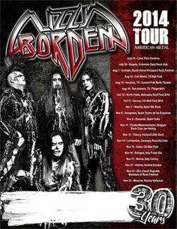 Conciertos de Lizzy Borden en Madrid, Zaragoza y Donostia en noviembre