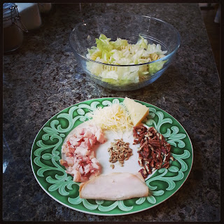 Receta au pair: Ensalada de bacon, nueces y queso de cabra