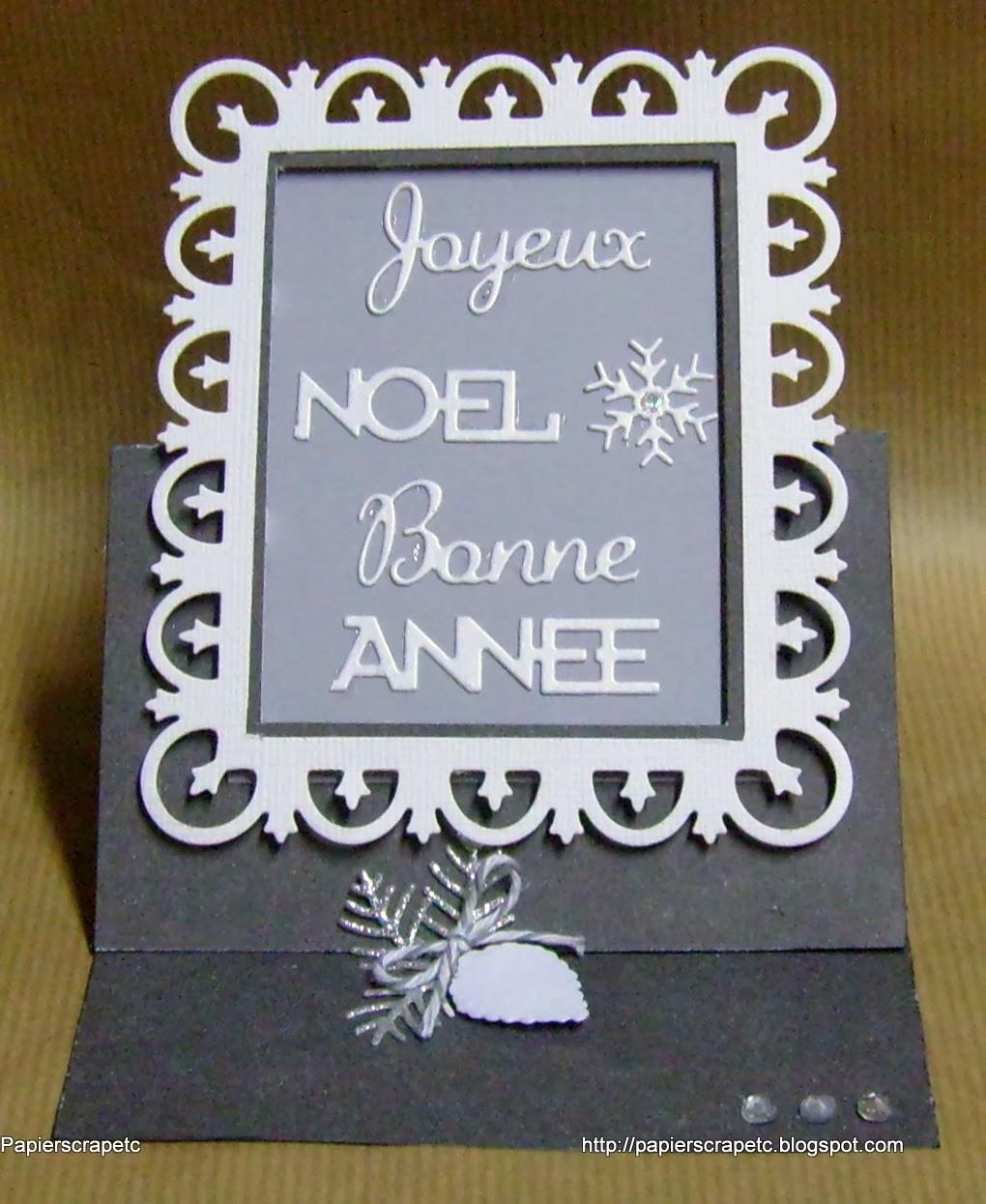 Papierscrapetc une carte chevalet pour no l et les v ux - Simply carte grise ...
