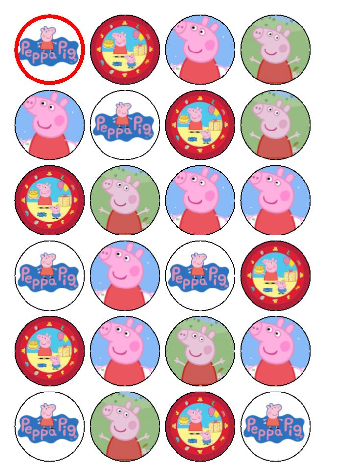 Peppa Pig Printable Cake Ideas and Designs