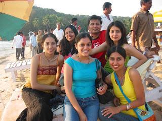 indian models at beach goa