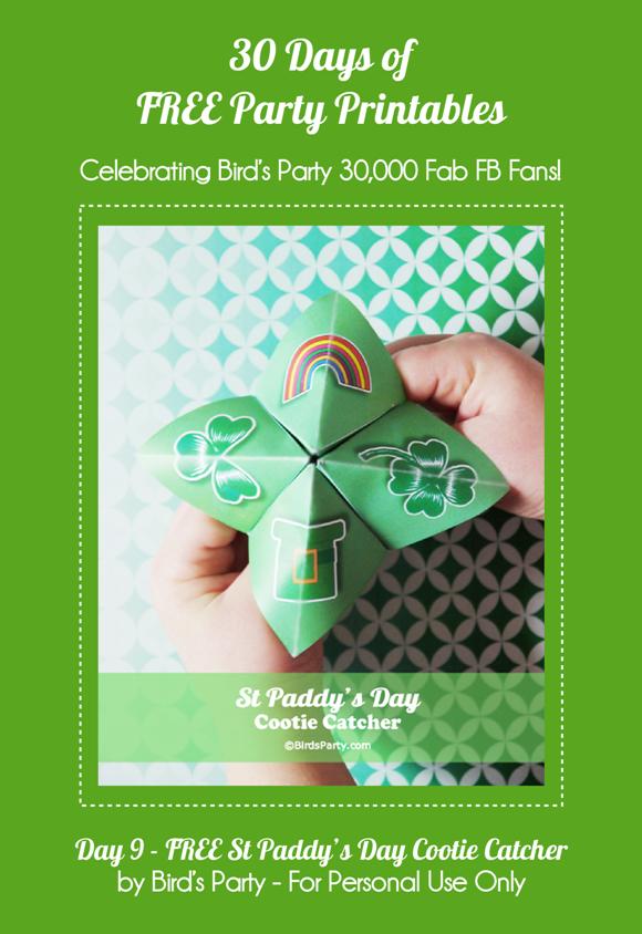 FREE Party Printables: St Paddy's Day Cootie Catchers Game