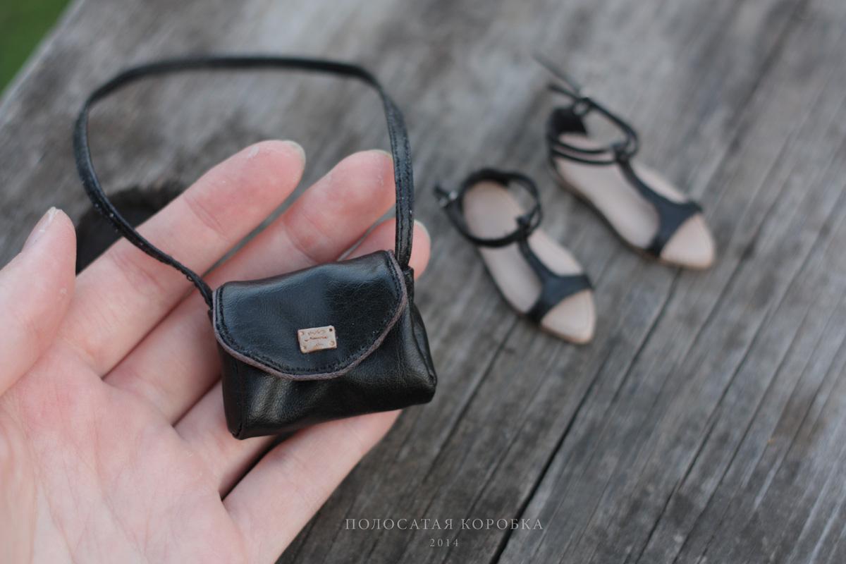 Миниатюрная сумочка для куклы