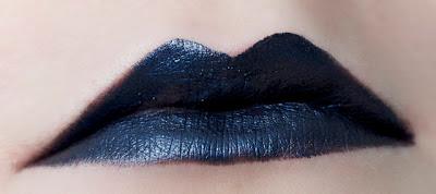 portland black lipstick company PBLC lipstick indigo bridge swatch metallic dark blue navy lipstick