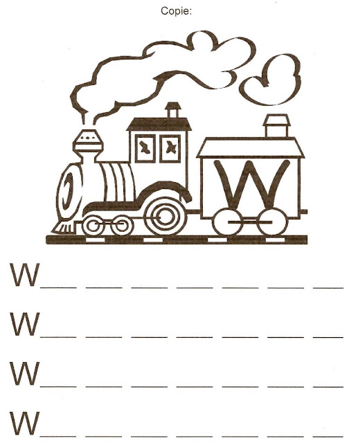 Atividades de Alfabetização coma letra W