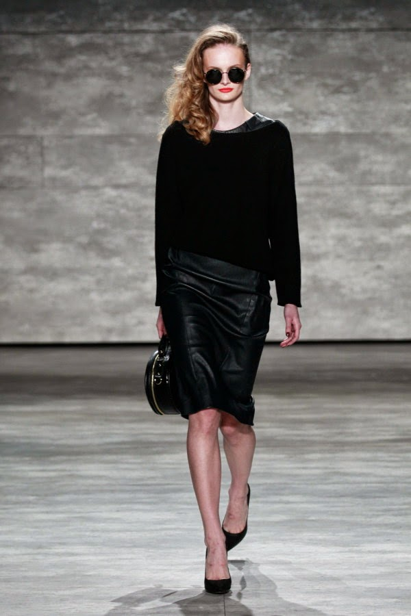 Leather Skirts For Autumn Winter 2015 black 2015 Deri Etek Modelleri,mini deri etek kombinler,2015 deri modası bayan