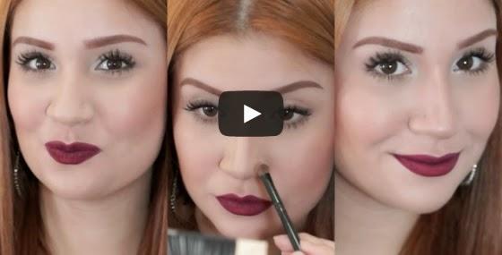 Vídeo tutorial - Como afinar o nariz com maquiagem