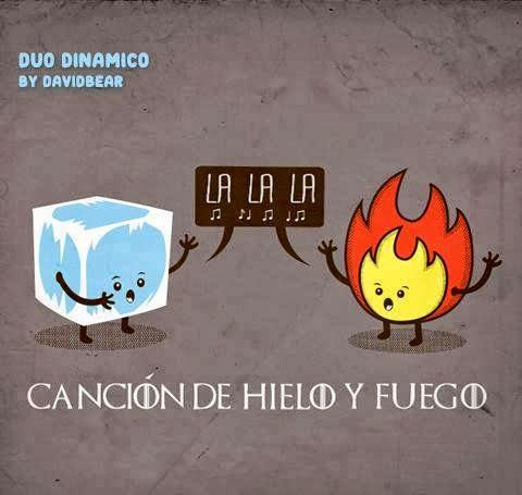 canción de hielo y fuego chiste gráfico - Juego de Tronos en los siete reinos