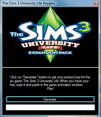 sims 3 university code generator