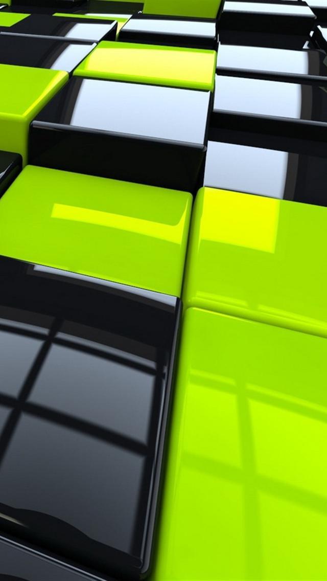 黒と緑のブロック