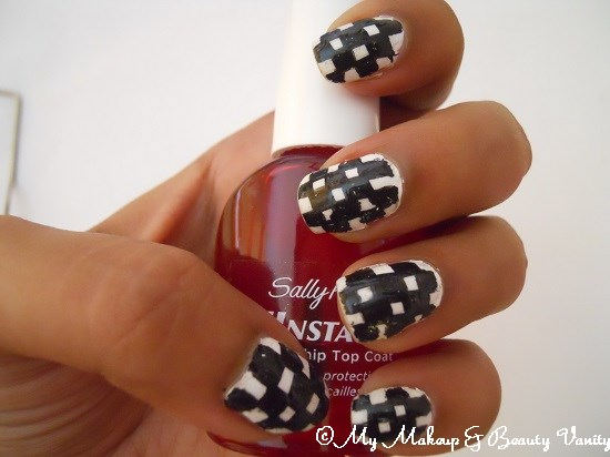 checkered nail art +nail art tutorial+nail art+nail+tutorial