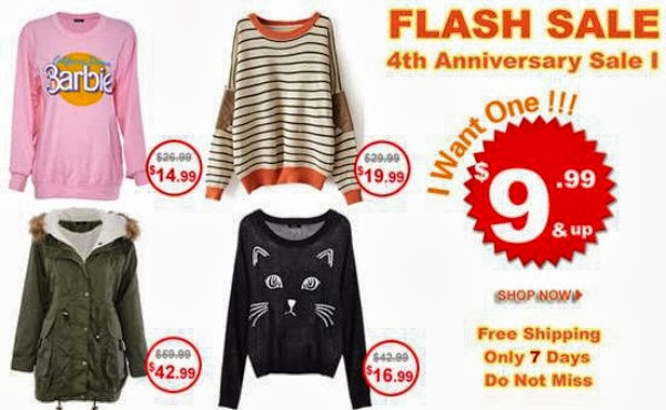 ROMWE 4th Anniversary Flash Sale