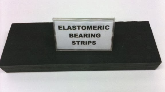 Elastomeric strip bearing