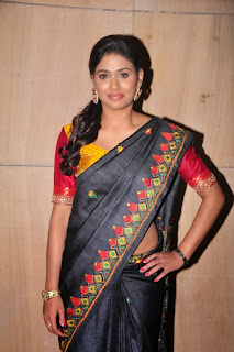 Actress Manisha Yadav  Pictures in Saree at Preminchali Movie Audio Launch  0011