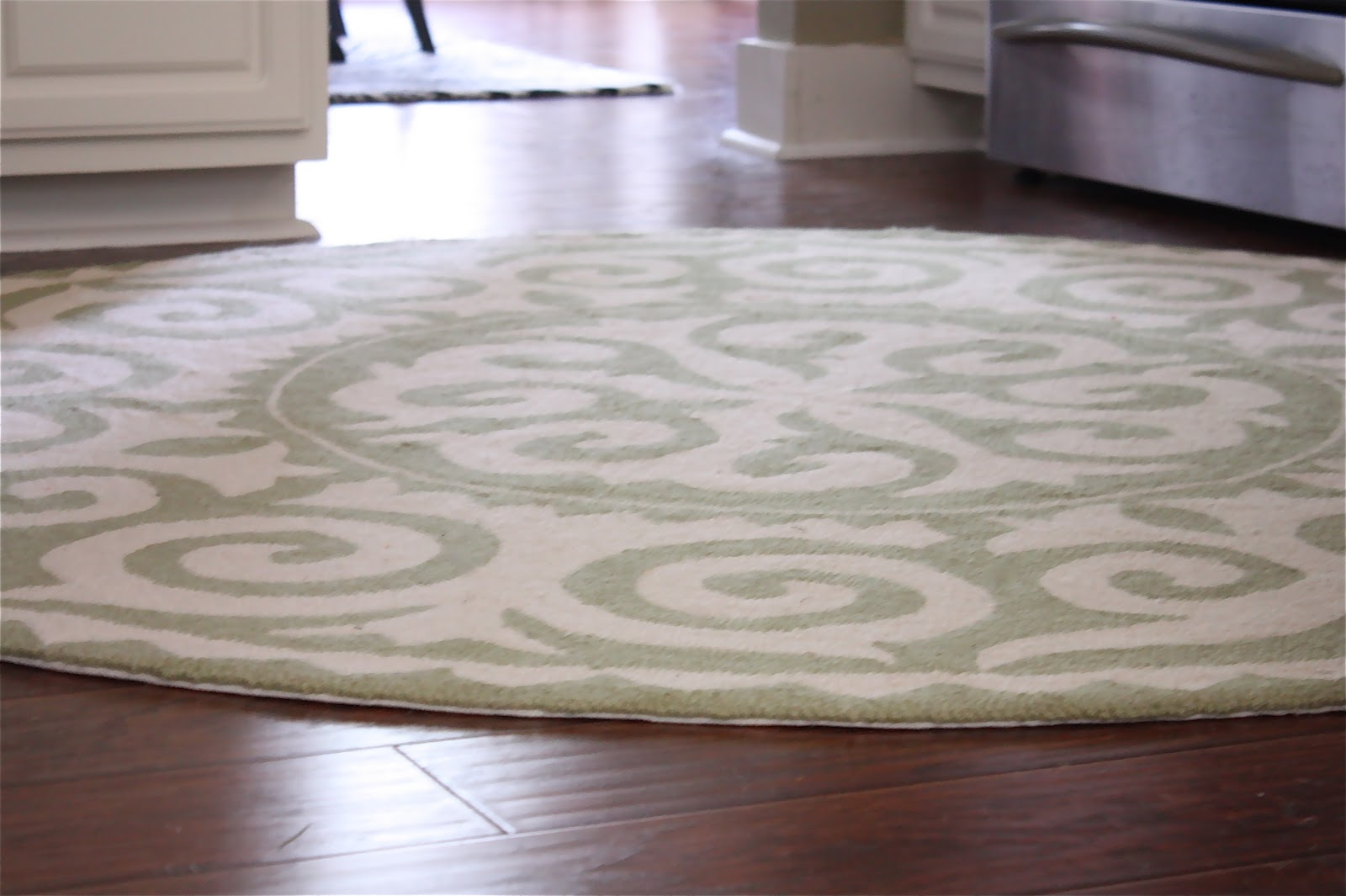 the yellow cape cod kitchen makeover details the rug