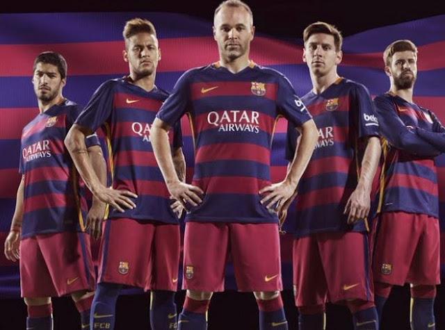 Barcelona Luncurkan Jersey Resmi Musim 2015/16