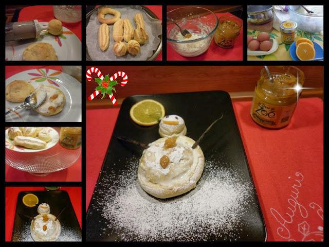 pupazzo di neve farcito con ricotta e marmellata arancia e limoni azienda agricola le terre di zoe