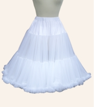 White frilly vintage-style petticoats